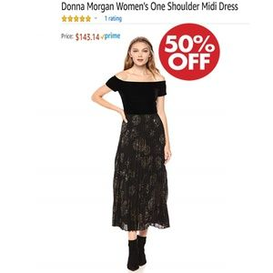 NEW Donna Morgan Women's One Shoulder Midi Dress